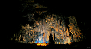 Desoto Caverns Light Show by JNS0316