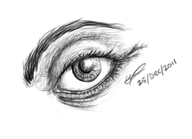 Wacom Bamboo Create - first doodle :D by Puzzlr