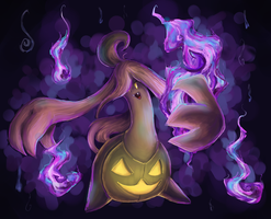 pokeddexy 09 ghost - gourgeist by Peegeray