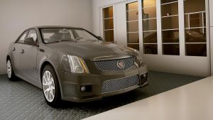 2009 Cadillac CTS-V by melkorius