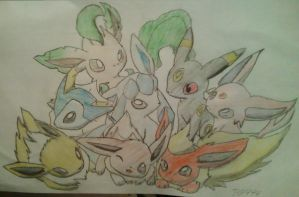 Eeveelutions by pokefan444