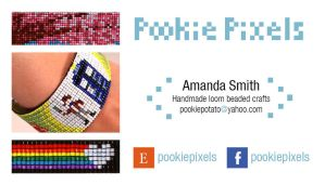 Pookie Pixels Business Card Design by chat-noir