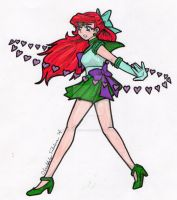 Sailor Disney Series- Ariel as Minako by ObsoletelyFabulous
