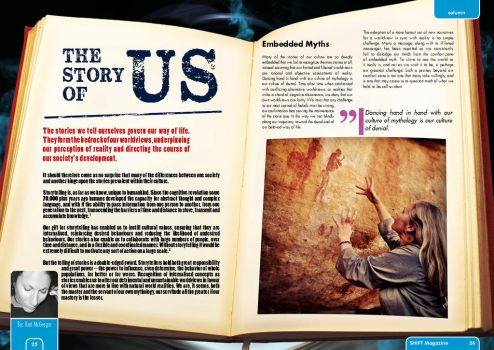 Issue #4 of SHIFT magazine - The Story of Us (1) by artsfantasy