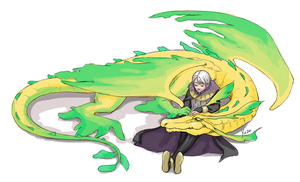 Sketch Commission - Henry x dragon!Nowi by yinza