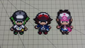 N, Hilbert, and Hilda - PB Sprites by MaddogsCreations