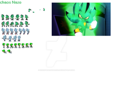 Chaos Nazo sprites by ChrisTAuraWarrior