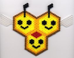 Combee in Perler Beads by BlueKecleon15