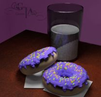 Donuts and Milk by VickiBeWicked