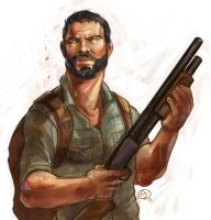 Joel -The Last of Us by deathbywalmart