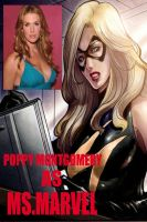 Poppy Montgomery as MS.Marvel by RWhitney75