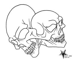 Fused Skull Flashart by Almigh-T