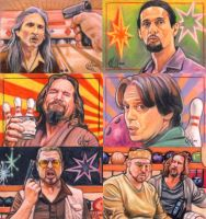 Big Lebowski sketch cards by choffman36