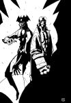 Hellboy and Devilman by genocidalpenguin