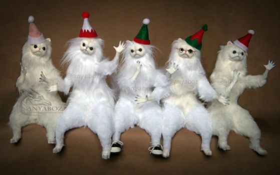 Christmas Persian Cat Room Guardians by AnyaBoz