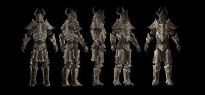 Dragonbone Armor, Reference Renders by vrogy