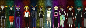 Homestuck Head-Canon Height Chart by n4745h4