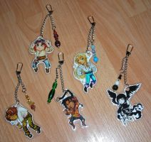 Otherworlds Keychains by tarorae