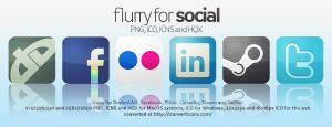 Flurry Icons for Social Media by HeskinRadiophonic