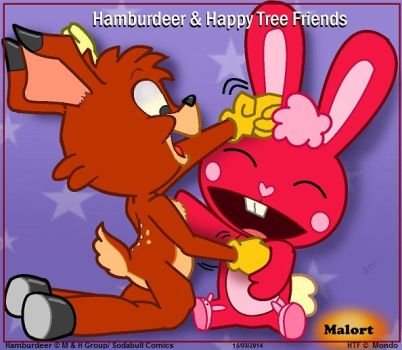 malort Deer and Happy tree friends by Malort57