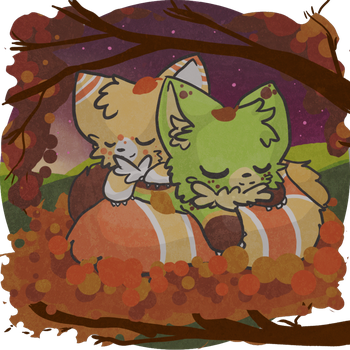 Tail Snuggling :Mango and Clover: by AppleDew