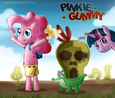 Banjo-Ka'PINKIE PIE AND GUMMY' by cryptmonkey