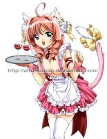 catgirl waitress by L3Moon-Studios