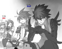 Elsword Doodle: That other team by RakugakiGaki