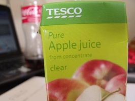 TESCO Apple Juice by Sarahwildflower