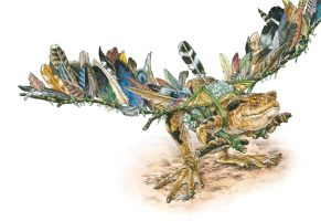 Feathery toad by Wildkunst