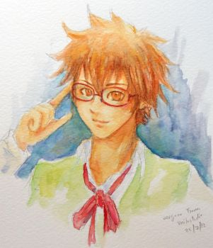 4 eyes Tsuna by milostudio
