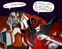 TFP- Ratchet and Knock Out by chibigingi