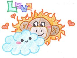Sunny Monkey Love by Life-Is-Fake