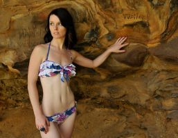 Emma - bikini in cave 1 by wildplaces