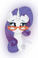 MLP FIM - Rarity Fashion Glasses by Joakaha