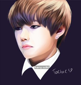 Painting test: Taehyung by haru-cchii