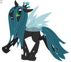 QueenChrysallis Commission by Faith-Wolff