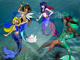 Mermaid Fly - Group III by Eleanor-Devil
