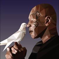 Mike Tyson Low Poly Art by SugiDrawings