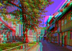 Quedlinburg I ::: Anaglyph 3D by zour