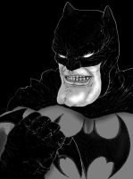 batman - Black and White by Crow-Dreamer