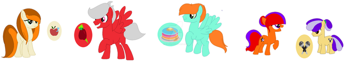 Apple cousins (Without Applejack's kids) by SouloftheDragonTamer