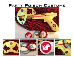 Party Poison costume details by maskedzone
