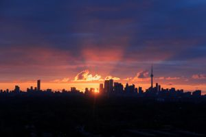 Morning Sunshine Over Toronto by KMourzenko