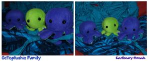 Octoplushie Family by Cautionary-threads