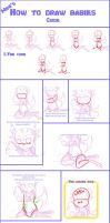 How to draw babies guide by SilvesterVitale