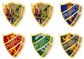 Prefect Badges by rayayakuza