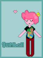 Pixelated Gumball by darksailormoon