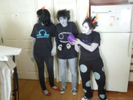 KARKAT, gAmZeE, and T3R3ZI 002 by Joey-of-Suburbia