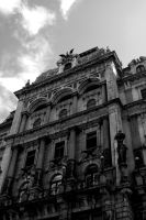 Viennese Building. Monochrome. by johnwaymont